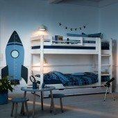 Classic Etagenbett mit Bettkästen, Whitewash 90 x 200 cm