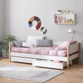 Nor Einzelbett mit Bettkästen, 90 x 200 cm