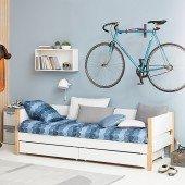 Nor Einzelbett mit Bettkästen, 90 x 190 cm