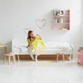 Dots Einzelbett in weiß (inkl. Rollrost, 90 x 200 cm)