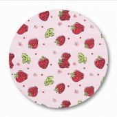 Meterware Stoff, Strawberries Design (B140cm)