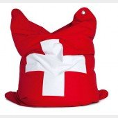 the fashion bull Sitzsack Suisse (Schweizer Fahne)