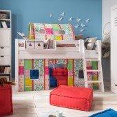 KIDS / TOBY Bettvorhangset 902 für halbhohe Spielbetten (3 Leitersprossen)