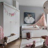 Emma Kleiderschrank 3-türig mit 2 Schubladen in weiß