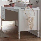 Emma Schreibtisch mit 2 Schubladen in weiß