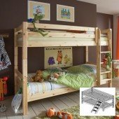 KIDS Etagenbett 602 mit schräger Leiter