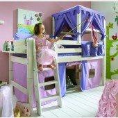 KIDS Prinzessinnenbett inkl. Vorhang und Himmel