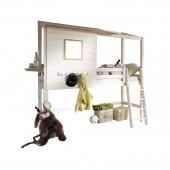 KIDS mittelhohes Hüttenbett für hohe Räume