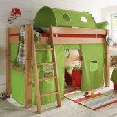 KIDS / TOBY Bettvorhangset 902a für mittelhohe Spielbetten (4 Leitersprossen)