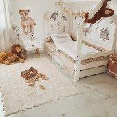 Teppich Tüpfel beige 120 x 160 cm