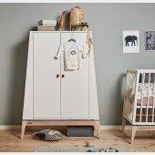 Luna™ Kleiderschrank, klein in weiß / Eiche