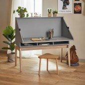 Luna™ Schreibtisch, in grau / Eiche