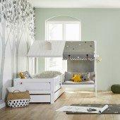 Beachhouse Corner Bett mit Sitzbank, Rollrost / Deluxe (90 x 200cm)
