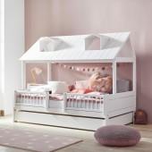 Beachhouse Hausbett Mittelgroß Deluxe weiß (120 x 200cm)
