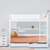 Etagenbett in 3 Farben mit wählbarer Bettfront