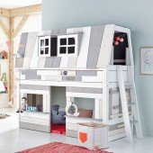 Halbhohes Bett Hangout (Liegefläche oben / Spielfläche unten)