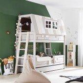 Abenteuerbett Hangout mit Innen- u. Außenleiter (1 Schlafebene + 1 Spielebene)