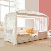 4 in 1 Bett (1 Bett mit 4 Aufbauvarianten) mit Textilhimmel Fairy Dust