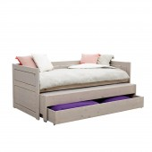 Kojenbett mit Gästebett und Bettkasten in grey