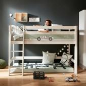 Halbhohes Spielbett in 3 Farben mit wählbarer Bettfront