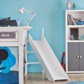 Rutschenturm für Minihochbetten u. halbhohe Betten (nur bei gerader Leiter), Farbe wählbar