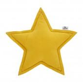 Sternenkissen gelb, Ø 35 cm