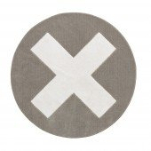 Teppich Grey X rund, Ø 133cm