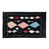 Teppich Meknes, schwarz in 140 x 200 cm