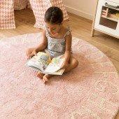 Waschbarer Teppich Round ABC Nude Natural, (Ø 150cm)
