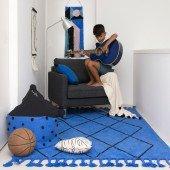 Teppich Bereber Classics Klein-blau, 140 x 200 cm