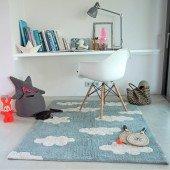 Waschbarer Teppich Clouds Vintage Blue 120 x 160 cm