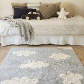 Waschbarer Teppich Clouds grey 120 x 160 cm