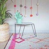 Waschbarer Teppich Saffi 140 x 200 cm