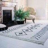 Waschbarer Teppich Bereber Rhombs beige,140 x 210 cm