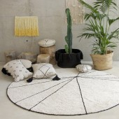 Waschbarer Teppich Trace beige (Ø 160 cm)