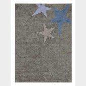 Teppich Three Stars Grey-Blue