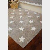 Estrellas Lino-Blanco (Teppich kleine Sterne, beige-weiß)
