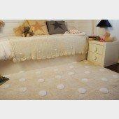 Teppich Polka Dots beige-white