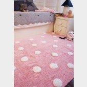 Teppich Polka Dots pink-white