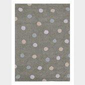 Teppich Tricolor Polka Dots grey-blue