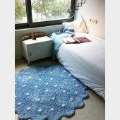 Teppich Little Biscuit Blue, Ø 140cm