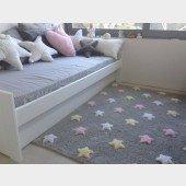 Estrellas Tricolor Gris Rosa (Teppich mit rosa u.a. Sternchen)