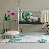 Waschbarer Teppich Tropical Green 140 x 200 cm