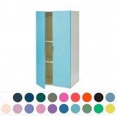 Kinder-Kleiderschrank mit farbigen Türen (Korpus weiß oder snowwhite), H 140