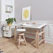 Schreibtisch snow white / Buche (B 115 cm)