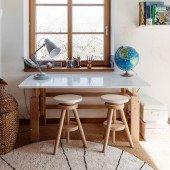 Schreibtisch snow white / Buche (B 140 cm)