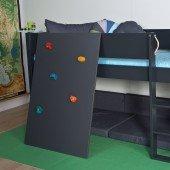 Kletterwand für halbhohe Betten, diverse Farben