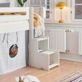 Midi-Treppe für halbhohe / mittelhohe Betten, diverse Farben