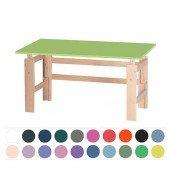 Schreibtisch farbig/Buche (B 140 cm)