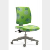 Drehstuhl MY FleXo 2432 mit grünen Kringeln